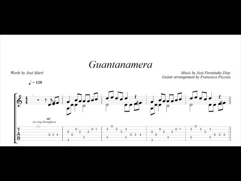 Fingerstyle Guitar - Perfidia (From Latin Collection Nr.9) - Full ...
