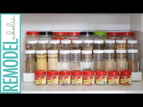 Easy $3 or less; Tiered DIY Spice Rack Tutorial