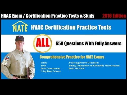 NATE Exam Free Practice Test All | HVAC Certification Practice Tests