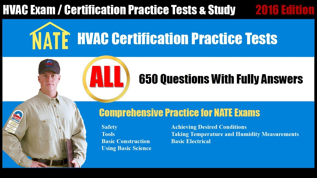 Nate exam free practice test all hvac certification practice nate exam free practice test all hvac certification practice tests youtube 1betcityfo Choice Image