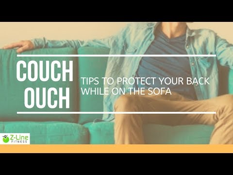 How to sit on the couch without killing your back