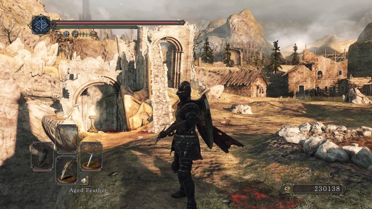 Texture pop-up, Shimmering, Aliasing and Shadow flicker demonstration   Game: Dark Souls II