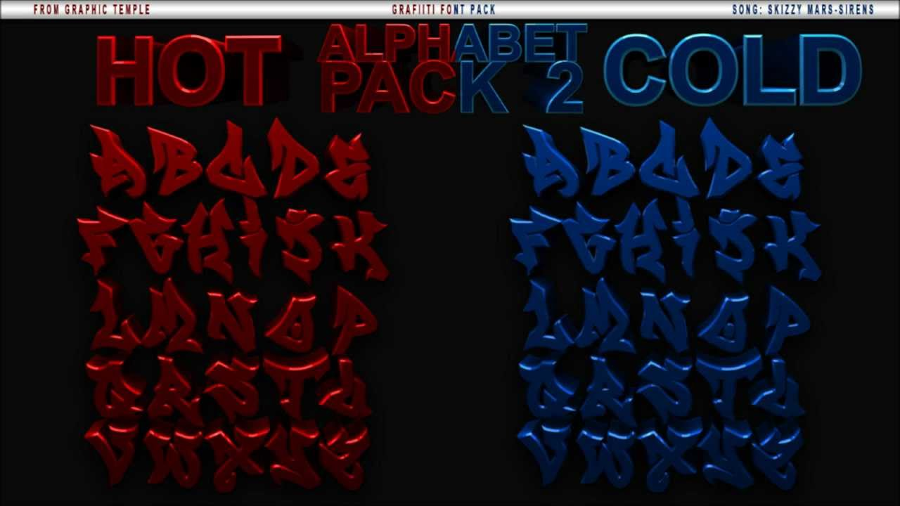 Download Free // 3D Graffiti text Pack // 2 Colours // HD - YouTube