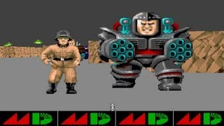 Wolfenstein 3D - Demo Sega Genesis - No Enemy Sprites