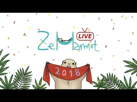 [ ZeMarmot Live ] [ 즈마멋 라이브 ] 20180208 Making an animation with GIMP / drawing cast / 김프 그림 방송