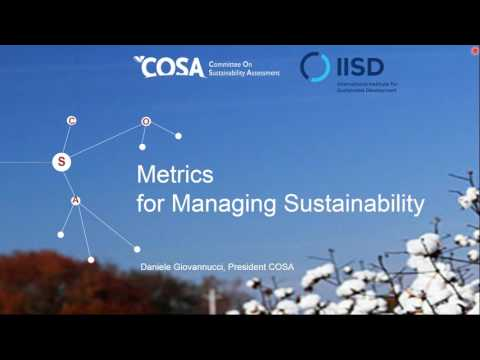 Webinar: Developing Indicators for Sustainable Agriculture Standards