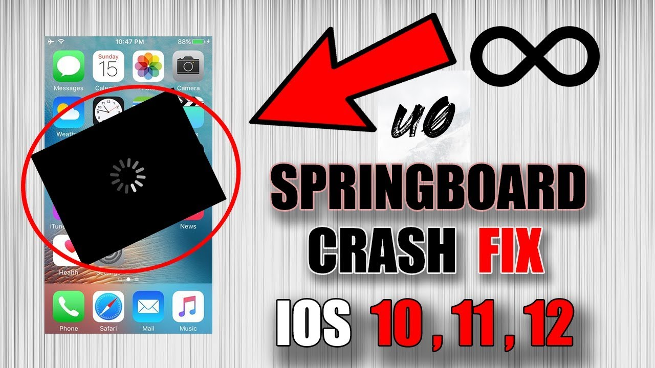 how to fix springboard crash ios 12 | 11 | 10 ( uncover jailbreak -  safemode )
