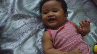 Baby laughing with her mother|  Very lovey baby girl laugh