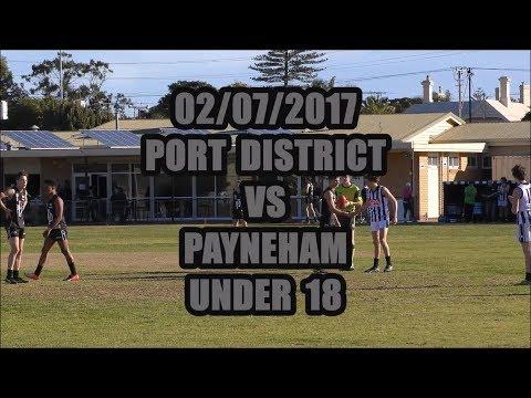 Port District VS Payneham  Under 18 ...02/07/2017... 1 Point Thriller