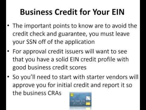 Experian business credit cards using ein only ty crandall youtube colourmoves