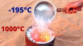 Liquid Nitrogen in 1000°C Hot Furnace | Will It Boil?