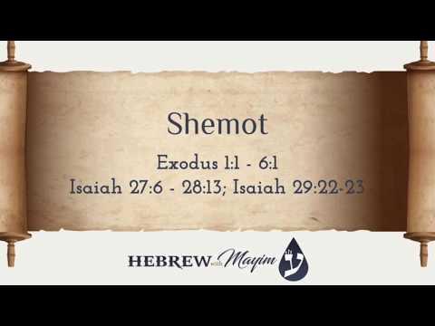 13 Shemot, Aliyah 1 Definitions - Learn Biblical Hebrew