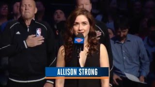 Allison Strong- National Anthem at Madison Square Garden