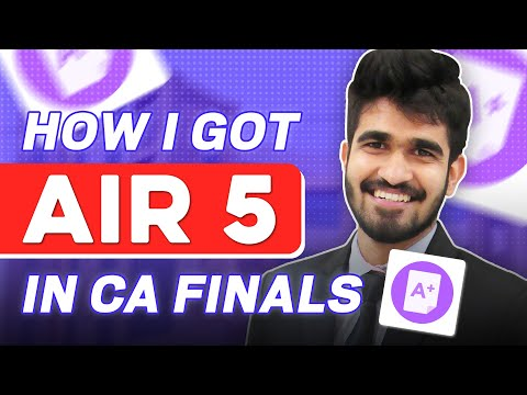 CA Final - Subject Wise Strategy to get a rank | How I got AIR 5 in CA Finals | Focus on ICAI Mat