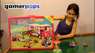 Let's Play With The Mega Bloks Barbie Build N Play Luxe Camper | Gamerpops