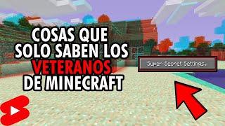 Cosas que SOLO saben los VETERANOS de Minecraft