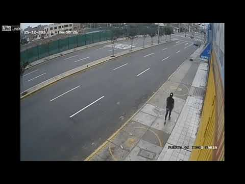 SPEEDING CAR LOSES CONTROL AND HITS A PEDESTRIAN AND SHE SURVIVES December 29, 2017