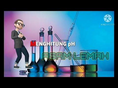 Menghitung pH Asam Lemah - YouTube