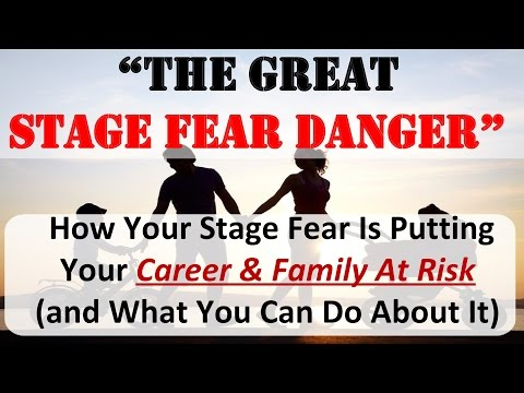 "NEW-YEAR WEBINAR VIDEO: ""The Great Stage Fear Danger"""