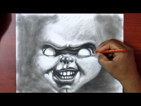 Learn to Draw - Exercise #2 - Charcoal - Drawing Chucky - Real Time Tutorial