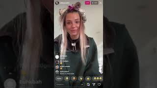 ALISSA VIOLET INSTAGRAM LIVE GETS HER HAIR DONE
