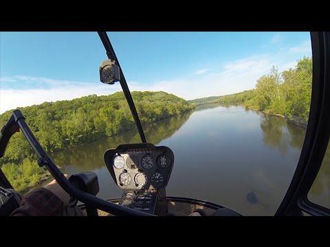 Robinson R22 Helicopter - Student Pilot - Delaware River - Erwinna Private - W/ Comms