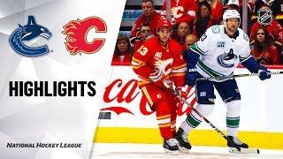 Canucks @ Flames 10/05/19 Highlights
