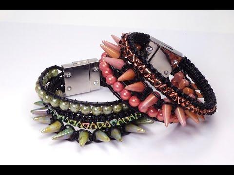 Schmuck selber machen: Armband aus Glasperlen und Lederband