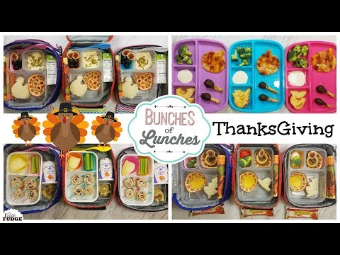 Thanksgiving Themed Lunch Ideas & What They Ate! || Bunches of Lunches Week 7