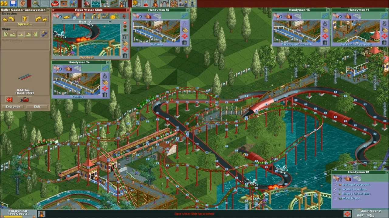 roller coaster tycoon 3 how to build water rides