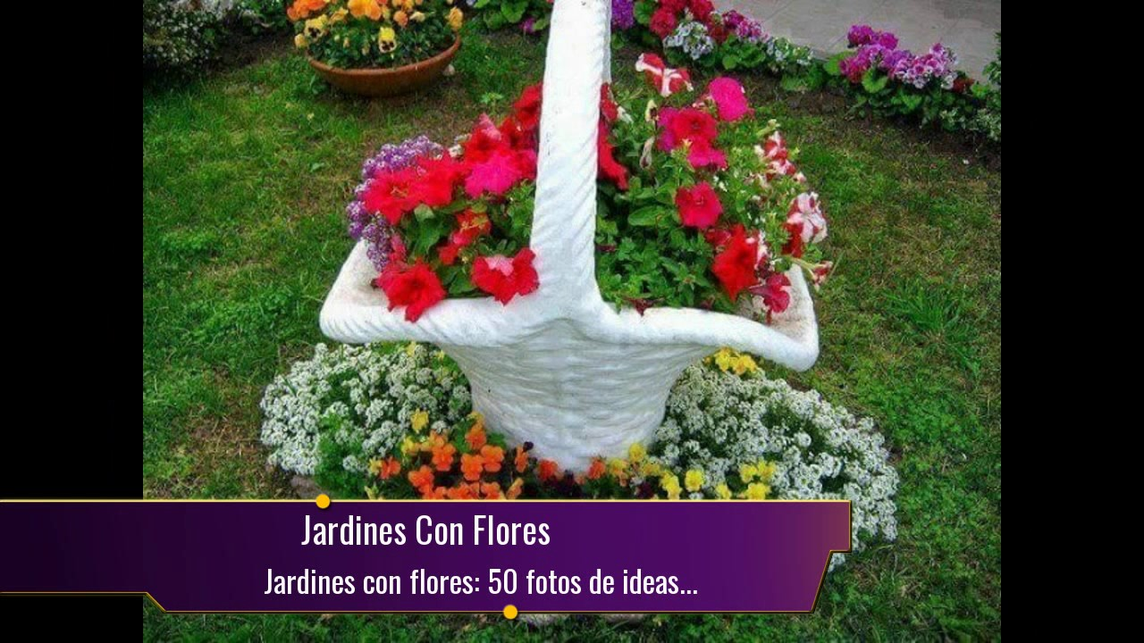 Jardines con flores 50 fotos de ideas para decorar youtube for Adornos con plantas en macetas