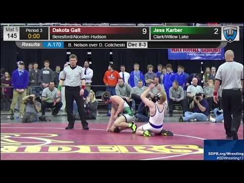 Dakota Galt Beresford/Legends Of Gold High School Wrestling Highlight