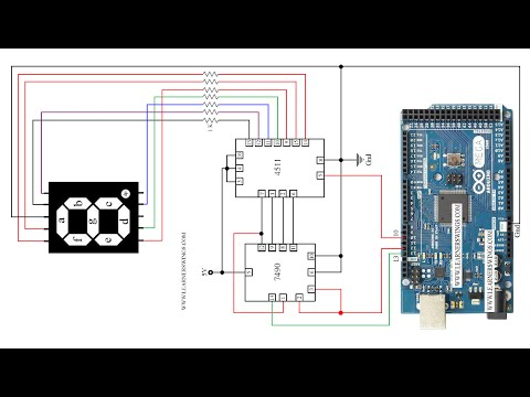 decade counter circuit diagram using 7490 ryobi 31cc fuel line my first counter!! uses and 7447 ics, a common anode 7-segment led display