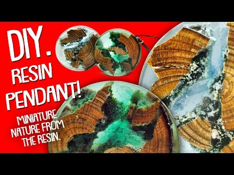 DIY.Secret Wood - Resin Pendant - Miniature Nature from the resin / Necklace