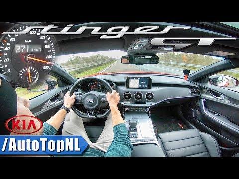 TOP SPEED on AUTOBAHN | KIA STINGER GT V6 AWD by AutoTopNL