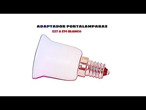 Video de Adaptador E27 a E14  Blanco