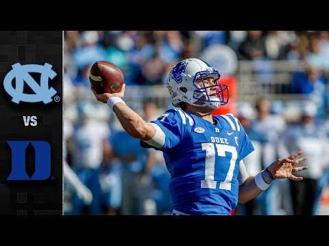 North Carolina Vs. Duke Football Highlights (2018)