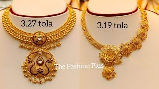 Latest BRIDAL Gold Necklaces with WEIGHT