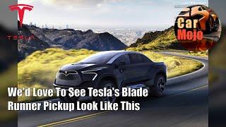 We'd Love To See Tesla's Blade Runner Pickup Look Like This   CarMojo