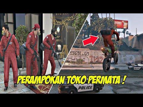 MISI KEREN !!! | GTA 5 MISI 13 : THE JEWEL STORE JOB (PLAN B - SMART APROACH) | PC