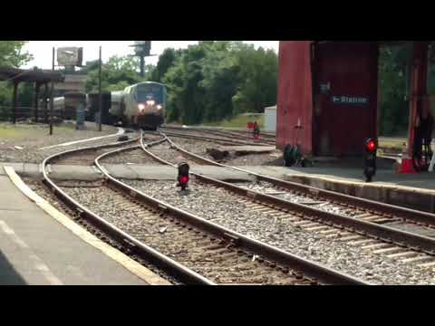 Amtrak Vermonter at Springfield Massachusetts station