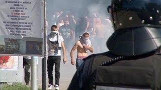 Kosovo: Ausschreitungen an der Brücke von Mitrovica