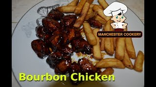 How To Make Simple Restaurant Mall Style Bourbon Chicken Easy
