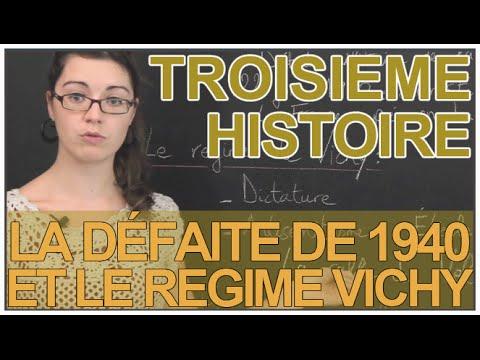 La défaite de 1940 et le regime Vichy - Histoire - 3e - Les Bons Profs