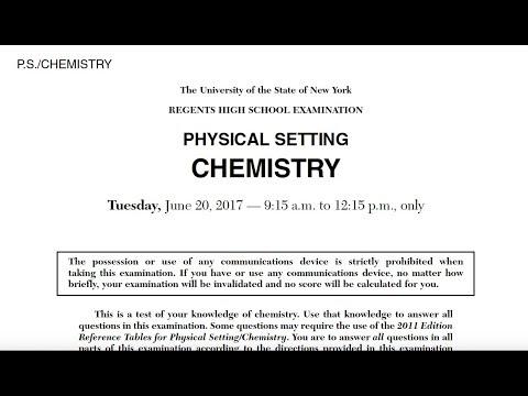 2017 June Chemistry Regents MC Solutions