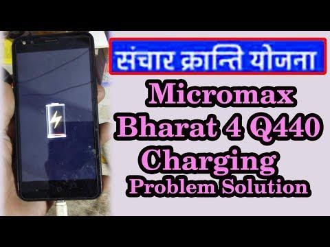 !!Bharat 4 cg sky Micromax Q440 charging problem.!!👍