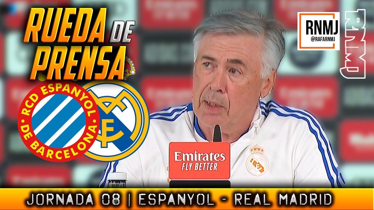 Rueda de prensa de ANCELOTTI previa RCD Espanyol - Real Madrid (02/10/2021)
