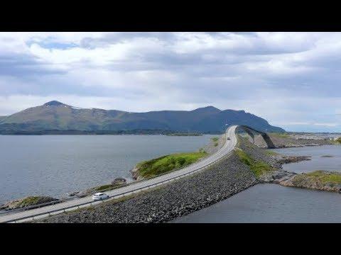 Atlantic Ocean Road Norwegian Construction of the Century | Stock Footage - Videohive