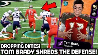 TOM BRADY SHREDS UP DEFENSES! DROPPING DIMES! Madden 20 Ultimate Team