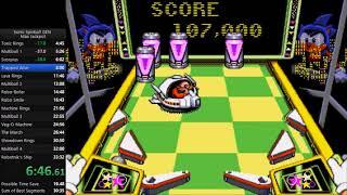Sonic Spinball Max Jackpot Speedrun in 29:28 [Current World Record] (Gen/MD)